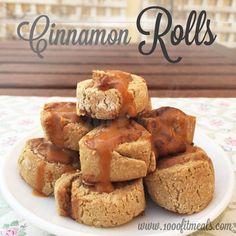 Pastas cinnamon roll con harina de avena.