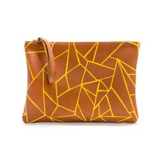 Leather Clutch Brown Origami design inspiration on Fab.