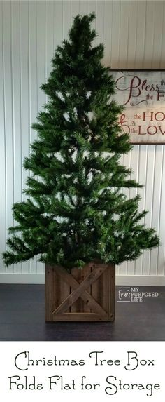 Farmhouse Christmas Tree Stands, Christmas Tree Stand Cover, Real Christmas Tree, Christmas Tree Themes, Xmas Tree, Christmas Diy, White Christmas, Christmas Swags, Country Christmas