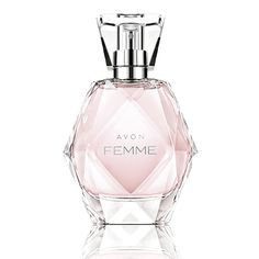 Femme de Avon é um perfume Floral Frutado Feminino. Suas notas de topo são Grapefruit rosa, Ameixa e Violeta as notas de coração são Jasmim, Orquídea selvagem e Magnólia as notas de fundo são Âmbar, Pêssego, Notas amadeiradas e Almíscar.