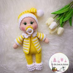In this article I will share the amigurumi doll pacifier doll free crochet pattern. You can find everything you want about Amigurumi. Knitted Dolls Free, Doll Amigurumi Free Pattern, Crochet Dolls Free Patterns, Crochet Doll Pattern, Amigurumi Doll, Doll Patterns, Crochet Toys, Free Crochet, Crochet Doll Tutorial
