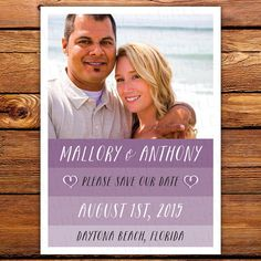 25 Ombre Save the Date Magnets Cards by LittleBeesGraphics on Etsy, $12.99