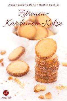Kekse Rezepte, Plätzchen Rezepte: Rezept für Zitronen Kardamom Kekse, eine Abwandlung der dänischen Butter Kekse. Kinderleicht zu backen und superlecker. #rezept #kekse #plätzchen #cookies #backen #dänemark #weihnachten #advent