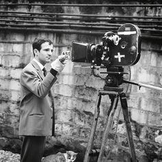 Making Of // François Truffaut with an Eclair CM3 by Raymond Cauchetier - 1962    #makingof #films #movies #oldcamera #vintagecamera #vintage #vintagestyle #retro #oldie #oldschool #behindthescenes #director #cinema #classicmovie #filmmaker #moviestar #mo
