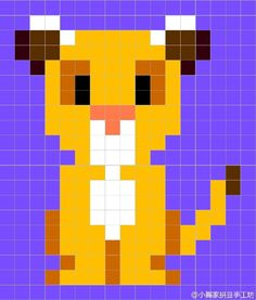 The Lion King Perler Bead Pattern