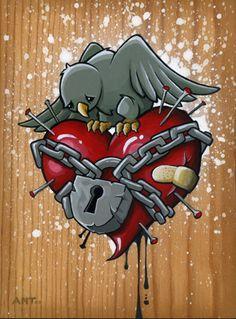 "Anthony Clarkson | Thinkspace Gallery""The Lonliest Lovebird"""