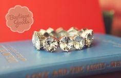 GroopDealz | Large Crystal Stretch Bracelet