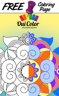 #Free #Zen #ColoringPage from Oui Color Coloring Books #mandalas