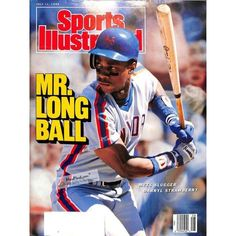 Mets great Darryl Strawberry has personally hand-signed this Sports Illustrated Magazine-Darryl Strawberry won the National League Rookie of the Year Award in 1983 by batting. smacking 26 home runs and driving in 74 runs for the New York Mets. Mets Baseball, Baseball Star, Sports Baseball, Baseball Movies, Softball, Baseball Cards, Ny Mets, New York Mets, Sports Magazine Covers