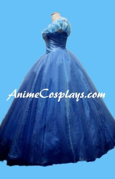 2015 Disney Cinderella Princess Ella Dress Cosplay Costume
