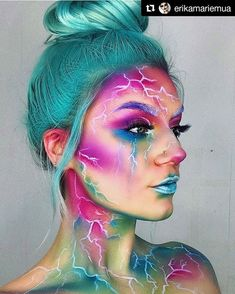 Amazing Halloween Makeup Body Painting Art Idea From erikamariemua Will you try it Tag your friend who ll love this! halloweencolor for Daily Creative Halloween Ideas Tag us halloweencolor amp; to get featured! Crazy Makeup, Cute Makeup, Makeup Art, Makeup Geek, Cosplay Makeup, Costume Makeup, Amazing Halloween Makeup, Halloween Face Makeup, Hallowen Schminke