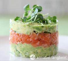 Salmon & Avocado tower....yum! That will be on the dinner menu next week ;)
