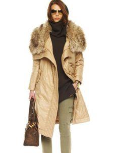 MICHAEL Michael Kors Faux-Fur Collar Coat