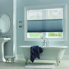 Allow natural light to fill your bathroom while providing privacy with these Top…