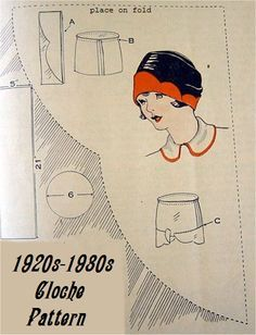 Sewing patterns vintage cloche hats 38 Ideas for 2019 Hat Patterns To Sew, Vintage Sewing Patterns, Costume Carnaval, 1920s Hats, Flapper Hat, Hat Tutorial, Millinery Hats, Diy Hat, Looks Vintage