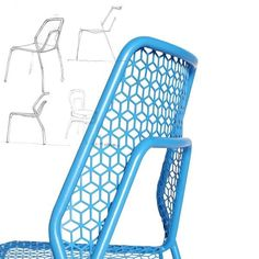 Humble beginnings. Hot Mesh Chair by Blu Dot