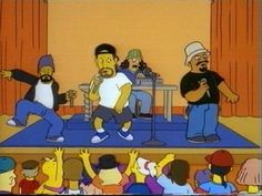 """Cypress Hill in The Simpson (""""Insane in the brain"""" )"""