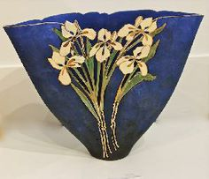 Vase - Large Triangle Porcelain by Canadian Artist Jan Phelan. #Pottery #CanadianArt