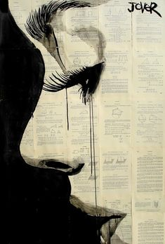 "Saatchi Online Artist: Loui Jover; Pen and Ink, Drawing ""reflection"" - idea for printing on newspaper or ledger art"
