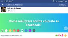 """Scritte giganti e con lo #sfondo colorato. Ecco la novità di #Facebook per invogliare gli utenti a """"twittare"""" su Facebook. Ecco come fare Facebook, Social Media Marketing"""