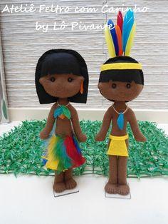 Casal de Índios com 25 cm de altura