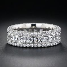 French-Cut Wide Diamond Band - 110-3-3993 - Lang Antiques