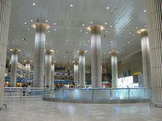 Tel Aviv-Ben Gurion International Airport Terminal 3 -  Skidmore, Owings & Merrill (SOM) / Moshe Safdie & Associates / TRA (2004) - Baggage Claim Hall