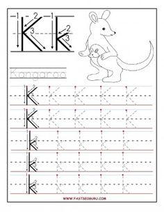 best kindergarten alphabet worksheets images  preschool day  free printable letter k tracing worksheets for preschoolfree learning to  write worksheets for preschoolers