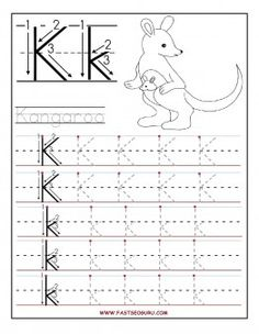 Free Printable letter K tracing worksheets for preschool.Free learning to write worksheets for preschoolers.