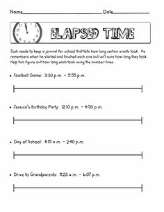 elapsed time scribd - Elapsed Time Worksheet