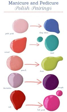 CONTRAST YOUR COLOURS FOR MANI & PEDICURES