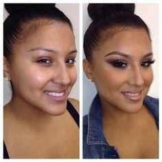 Wow, makeup really enhances one's beauty!! I love it!!