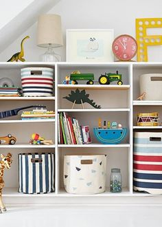 You can never have enough storage in a child's room - we love these practical + good-looking bins! #PNshop