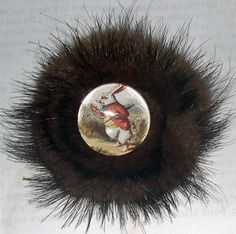 fur broochs | MINK FUR BROOCH PIN HAIR CLIPS | Cheetahrama