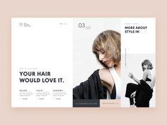 Typography UI — Project 1 layout clean web design webdesign ui minimalistic landing page uiwebdes Layout Design, Design De Configuration, Website Design Layout, Web Layout, Website Designs, Logo Design, Website Ideas, Identity Design, Brand Identity