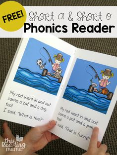 Learn to Read Short a & Short o Phonics Reader Learn to Read - Free Short a and Short o Phonics Reader and Activities - This Reading Mama Phonics Books, Phonics Reading, Teaching Phonics, Preschool Literacy, Phonics Activities, Teaching Reading, Short A Activities, Literacy Centers, English Activities