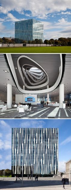 """Библиотека Абердинского Университета (Шотландия)  Выглядит как форпост инопланетян, случайно посетивших Землю. Видимо, архитекторы читали """"Пикник на обочине""""."""