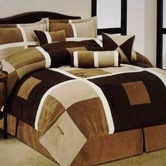 Be big, bold, and beautiful with geometrics! Fold Bed Sheets, Quilted Curtains, Easy Quilts, Dream Bedroom, Bed Covers, Bed Spreads, Comforter Sets, Furniture Design, Decoration