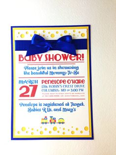 These 5x7 baby shower invitations are so fun - who could resist being excited about welcoming your new bundle of joy?! Click to see more!