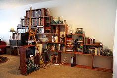 How to make a bookshelf mountain! Also links to a ton of beginner woodworking projects. Corey has no idea how busy he is about to be.
