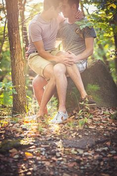 Josh and Bryan's Outdoorsy Engagement Shoot (Photo by Makayla Jade Creatives) - See more: http://www.tressugar.com/Outdoor-Gay-Engagement-Shoot-Massachusetts-34953268#opening-slide