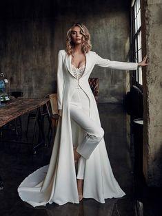 Dressy Jumpsuit Wedding, Wedding Pantsuit, Wedding Dress Suit, Jumpsuit Dressy, Wedding Jumpsuit, Wedding Cape, Long Wedding Dresses, Womens Wedding Suits, Prom Jumpsuit