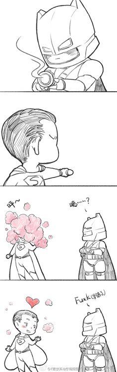 #BVS##SuperBat#看BVS的; Oh crap, wrong kryptonite. XD