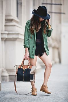 Downtown in fringe and military...