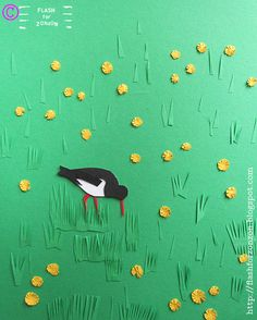 Oystercatcher On the Lawn, #papercut. Illustration Flash For Zonzon.