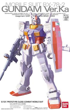 66.90$  Buy now - http://alifoh.worldwells.pw/go.php?t=32687094520 - 100% Genuine bandai model Free shipping 1/100 MG MOBILE SUIT RX-78-2 GUNDAM Ver.Ka Gundam UC Assembled GUNDAM MODEL Robot gunpla