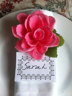 Beautiful Paper rose for table decorations.