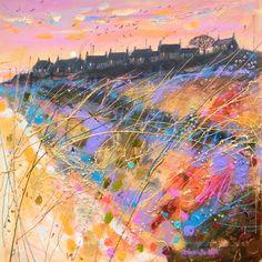 Deborah Phillips | Winter Sunset Ballyhornan Beach l Scottish Contemporary Art