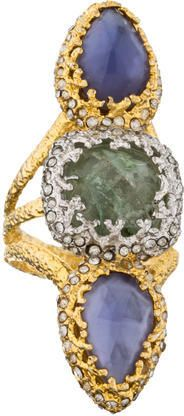 Wow this stunning, and unique Alexis Bittar Cocktail Ring is a one-of-kind in design and looks divine.