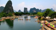 Guilin Hills China, a Surreal Landscape